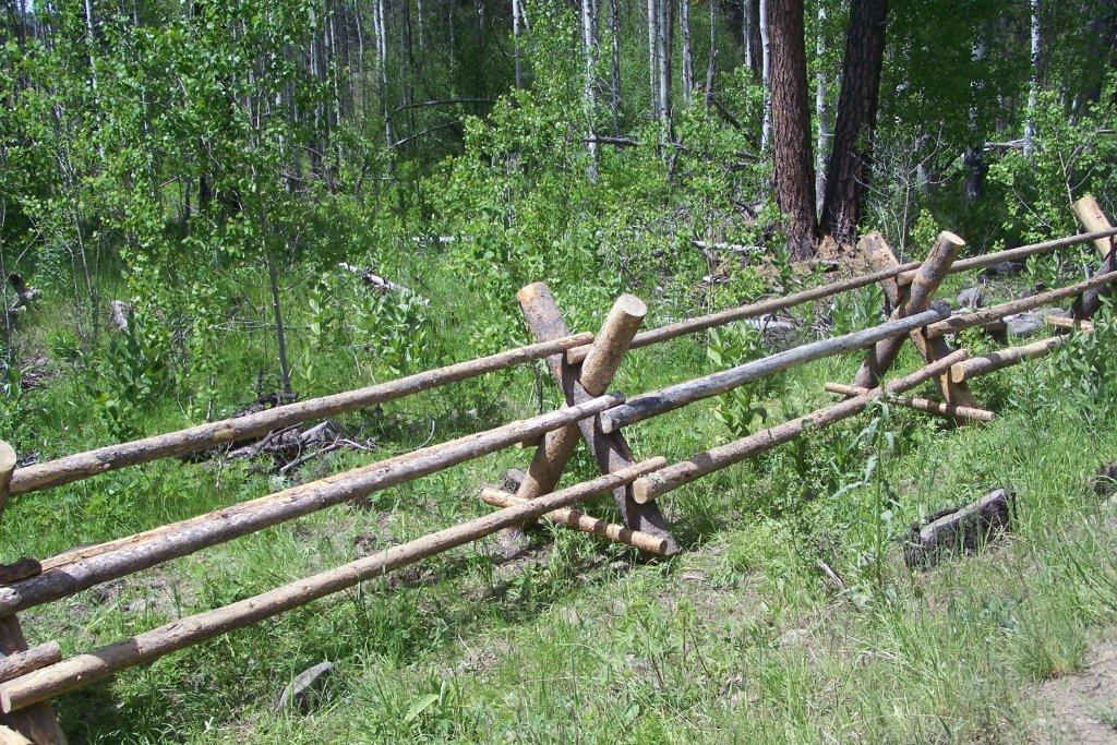 Post And Pole Fencing : Post pole fence around aspen